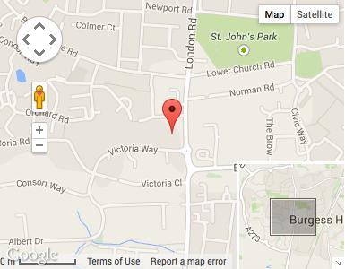 Burgess Hill Car Rental Map