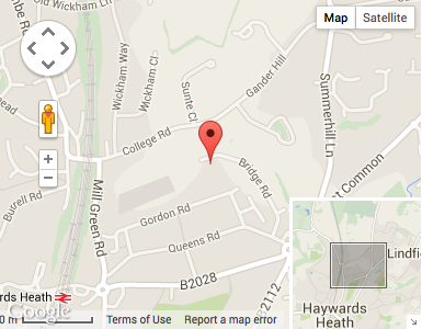 Haywards Heath Car Rental Map