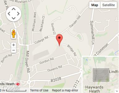 Haywards Heath Car Rental Map